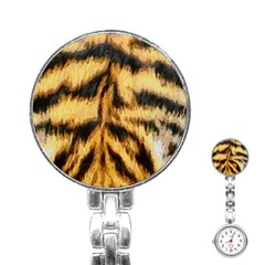 Tiger Fur Painting Stainless Steel Nurses Watch