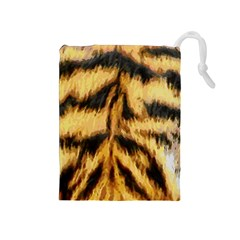 Tiger Fur Painting Drawstring Pouches (medium)  by AnjaniArt
