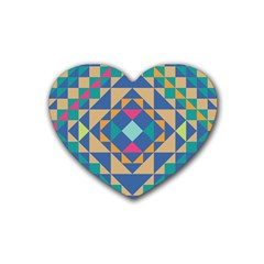 Tiling Pattern Heart Coaster (4 Pack)  by AnjaniArt