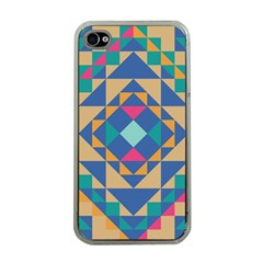 Tiling Pattern Apple Iphone 4 Case (clear) by AnjaniArt