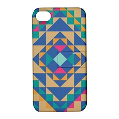 Tiling Pattern Apple Iphone 4/4s Hardshell Case With Stand