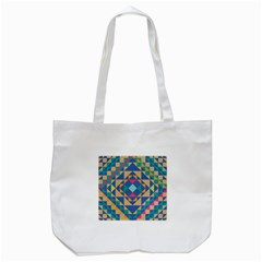 Tiling Pattern Tote Bag (white)
