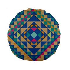 Tiling Pattern Standard 15  Premium Flano Round Cushions