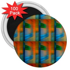 Wall Of Colour Duplication 3  Magnets (100 Pack)