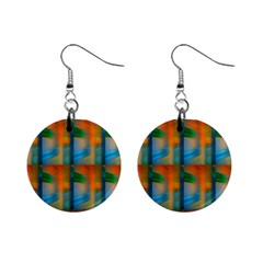 Wall Of Colour Duplication Mini Button Earrings by AnjaniArt