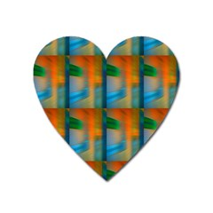 Wall Of Colour Duplication Heart Magnet by AnjaniArt