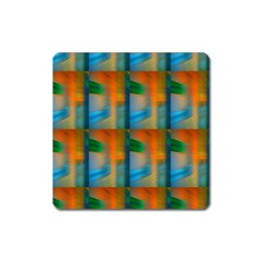 Wall Of Colour Duplication Square Magnet by AnjaniArt