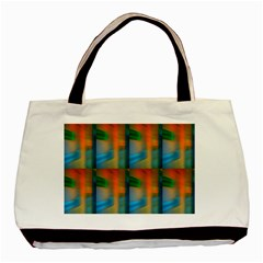 Wall Of Colour Duplication Basic Tote Bag (two Sides) by AnjaniArt