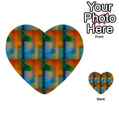 Wall Of Colour Duplication Multi Purpose Cards (heart)  by AnjaniArt