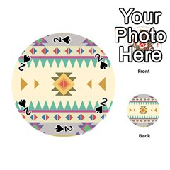Your First Aztec Pattern Playing Cards 54 (round)