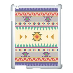 Your First Aztec Pattern Apple Ipad 3/4 Case (white)