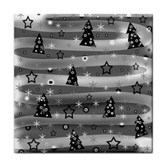 Gray Xmas Magic Tile Coasters by Valentinaart