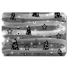Gray Xmas Magic Large Doormat  by Valentinaart