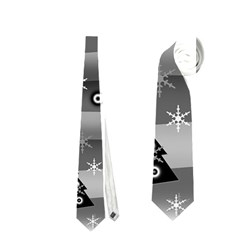 Gray Xmas Magic Neckties (one Side)  by Valentinaart