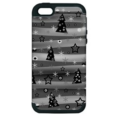 Gray Xmas Magic Apple Iphone 5 Hardshell Case (pc+silicone) by Valentinaart