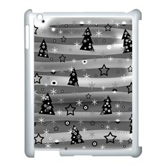 Gray Xmas Magic Apple Ipad 3/4 Case (white) by Valentinaart
