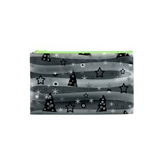 Gray Xmas Magic Cosmetic Bag (xs) by Valentinaart