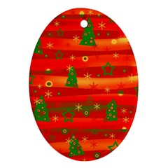 Xmas Magic Ornament (oval)  by Valentinaart