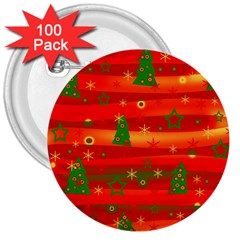 Xmas Magic 3  Buttons (100 Pack)  by Valentinaart