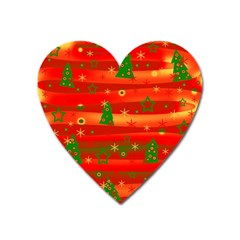 Xmas Magic Heart Magnet by Valentinaart