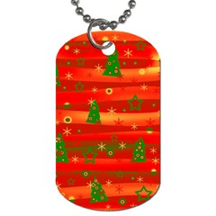 Xmas Magic Dog Tag (two Sides) by Valentinaart