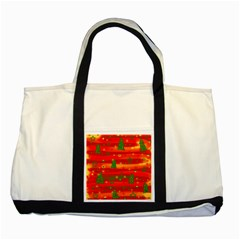 Xmas Magic Two Tone Tote Bag by Valentinaart