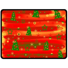 Xmas Magic Fleece Blanket (large)  by Valentinaart