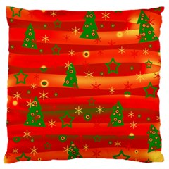 Xmas Magic Large Cushion Case (one Side) by Valentinaart
