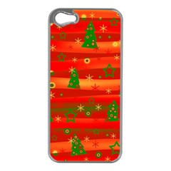 Xmas Magic Apple Iphone 5 Case (silver) by Valentinaart