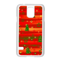 Xmas Magic Samsung Galaxy S5 Case (white) by Valentinaart