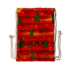 Xmas Magic Drawstring Bag (small) by Valentinaart