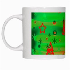 Green Xmas Magic White Mugs by Valentinaart