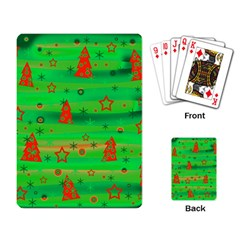 Green Xmas Magic Playing Card by Valentinaart