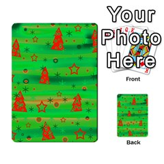 Green Xmas Magic Multi Purpose Cards (rectangle)  by Valentinaart