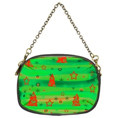 Green Xmas Magic Chain Purses (two Sides)