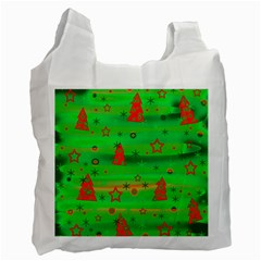 Green Xmas Magic Recycle Bag (one Side) by Valentinaart