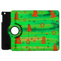 Green Xmas Magic Apple Ipad Mini Flip 360 Case by Valentinaart