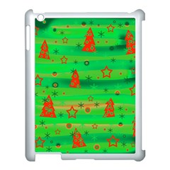 Green Xmas Magic Apple Ipad 3/4 Case (white) by Valentinaart