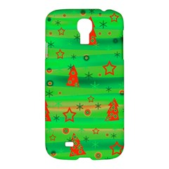 Green Xmas Magic Samsung Galaxy S4 I9500/i9505 Hardshell Case by Valentinaart