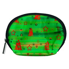 Green Xmas Magic Accessory Pouches (medium)  by Valentinaart