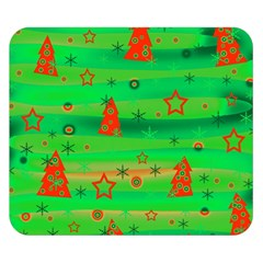 Green Xmas Magic Double Sided Flano Blanket (small)  by Valentinaart