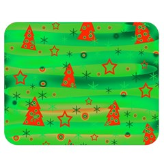 Green Xmas Magic Double Sided Flano Blanket (medium)  by Valentinaart