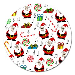 Xmas Song Magnet 5  (round) by Valentinaart