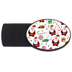 Xmas Song Usb Flash Drive Oval (4 Gb)  by Valentinaart