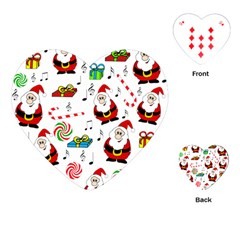 Xmas Song Playing Cards (heart)  by Valentinaart