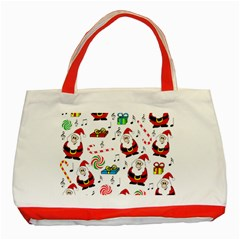 Xmas Song Classic Tote Bag (red) by Valentinaart