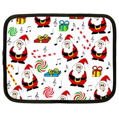 Xmas Song Netbook Case (large) by Valentinaart