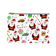 Xmas Song Cosmetic Bag (large)  by Valentinaart