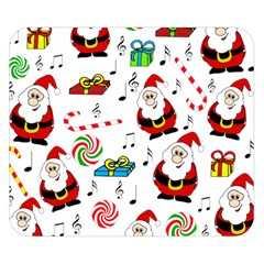Xmas Song Double Sided Flano Blanket (small)  by Valentinaart