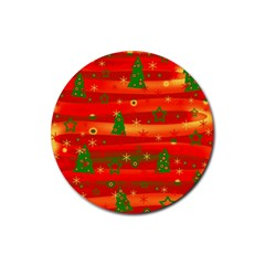 Christmas Magic Rubber Round Coaster (4 Pack)  by Valentinaart